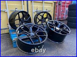 19 Aluwerks Xt20 Alloy Wheels 5x118 5x114.3 Vauxhall Vivaro Renault Trafic Blk