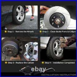 2x Brake Calipers Rear for Vauxhall Vivaro 01-14 Renault Trafic Nissan Primastar
