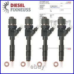 4 x fuel injector 0445110146 1.9 vauxhall vivaro renault trafic traffic dti dci