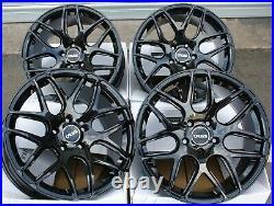 Alloy Wheels X For 2014 Opel Vauxhall Vivaro Renault Trafic 18 Black Cr1