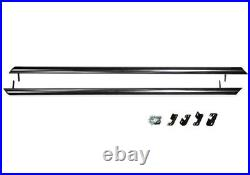 Black Side Step Rail Protection Guard Bar For 2001+ Renault Trafic SWB Primastar