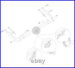 Detach Towbar 12N Bypass Fit Vauxhall Renault PRIMASTAR VIVARO TRAFIC 31075