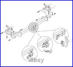 Detachable Towbar Fit Nissan Opel/Vauxhall Renault PRIMASTAR VIVARO TRAFIC 31075