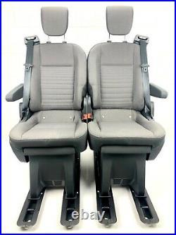 Double Bench Seat Vauxhall Vivaro OR Renault Traffic + ARMRESTS + RECLINE