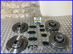Drilled & Grooved Front & Rear Brake Discs Pads Renault Trafic Vauxhall Vivaro