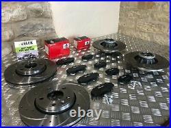 Drilled Grooved Front Rear Brake Discs &brembo Pads Renault Trafic & Vaux Vivaro