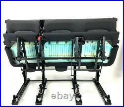 FOLDING Triple Bench Seat RENAULT TRAFIC VAUXHALL VIVARO NISSAN PRIMASTAR