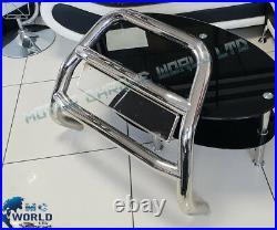 Fits Vauxhall Vivaro R. Trafic Bull Bar Chrome Spotlight Nudge A-bar 2001-2014