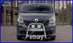 Fits Vauxhall Vivaro Renault Trafic Bull Bar Spotlight Nudge A-bar 2015-2019