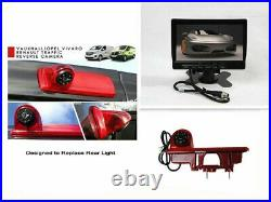 HD Brake Light Reverse Camera+7 Monitor For Vauxhall/Opel Vivaro Renault Trafic