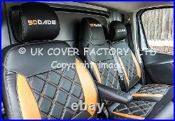 In Stock Van Seat Covers Vauxhall Vivaro Renault Trafic 2015+ Orange Bentley A29
