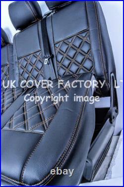 In Stock! Vauxhall Vivaro Renault Trafic Van Seat Covers Bentley Orange A19