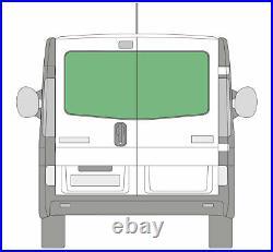 Rear Double Door Window Glass Set Renault Trafic Vauxhall Vivaro 2001 on Privacy