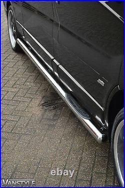 Renault Trafic 01-14 76mm Lwb 3 Steps Side Bars Stainless Steel Chrome Step Van