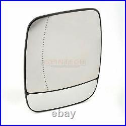 Renault Trafic Door Wing Mirror Glass Heated Aspheric Left Passenger side 2014+