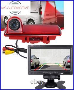 Renault Trafic Nv300 Vauxhall Vivaro Reversing Reverse Camera 7 LCD Brake Light