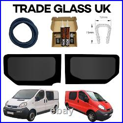Renault Trafic Tinted Side Windows WITH FITTING KIT And U TRIM 2001-2014