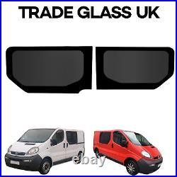 Renault Trafic Tinted Windows, TVP Side Windows Dark Glass 2001-2014