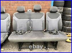 Renault Trafic Vauxhall Vivaro 2001-2014 REAR BACK SEAT Triple Bench