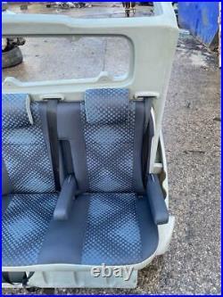 Renault Trafic / Vauxhall Vivaro Crew Cab Bulk Head In Grey 2007 To 2014