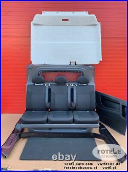 SET Seat triple bench Trafic Talento Opel Vauxhall Vivaro NV300 crew cab comfort