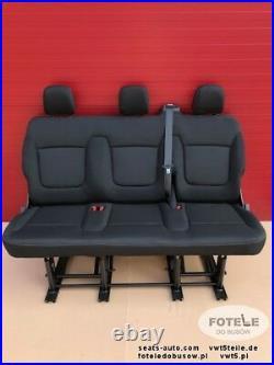 Seat triple bench Renault Trafic Opel Vauxhall Vivaro Nissan NV300 Fiat Talento