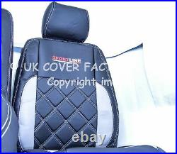 VAUXHALL VIVARO RENAULT TRAFIC UPTO 2013 Van Seat Cover Bentley A29