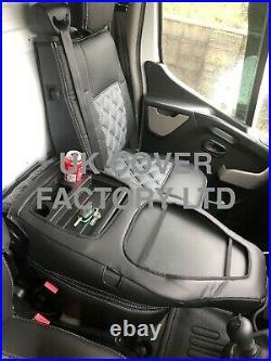 Van Seat Covers Renault Trafic Vauxhall Vivaro 2015+ Grey A2