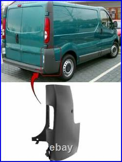 Vauxhall Vivaro 2000-2014 Rear Bumper Corner Gray Driver Side High Quality