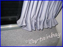 Vauxhall Vivaro / Renault Traffic / Interstar rear full curtain set in black