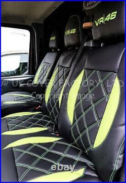 Vauxhall Vivaro Renault Trafic 01-2012 Van Seat Covers Lime Green A28