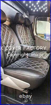 Vauxhall Vivaro Renault Trafic 2007-13 Van Seat Cover Grey A41