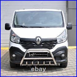 Vauxhall Vivaro Renault Trafic 2015-2019 Chrome Axle Nudge A-bar, Bull Bar