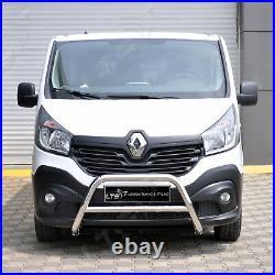 Vauxhall Vivaro Renault Trafic Chrome Nudge A-bar, Bull Bar 2015-2019 W K