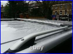 Vauxhall Vivaro Renault Trafic Lwb Grey Roof Bar Rail + Cross Bars 2015 Onward