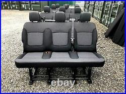 Vauxhall Vivaro Renault Trafic Primastar Van Minibus Rear Triple Folding Seats