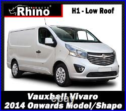Vauxhall Vivaro & Renault Trafic Roof Rack Rhino Bars x4 With Roller 2014-2021