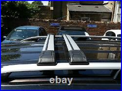Vauxhall Vivaro Renault Trafic Swb Grey Roof Rails+lockable Cross Bars 2015-2019