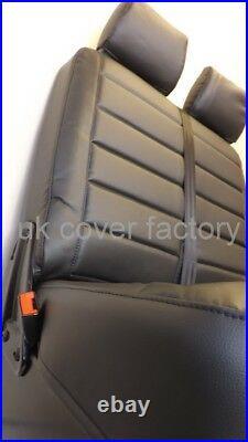 Vauxhall Vivaro Renault Trafic Up 2014 Van Seat Cover Quilted Black In Stock