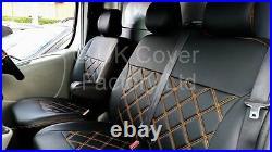 Vauxhall Vivaro Renault Trafic Van Seat Cover Orange Bentley A19