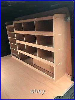 Vauxhall Vivaro Van Shelving Racking L1 SWB Plywood System Case Storage Unit