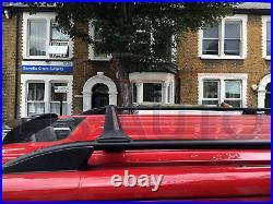 Vauxhall/vivaro Renault Trafic Primastar Lwb Black Roof Bar + Cross Bars 2015 On