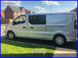 Vauxhall vivaro renault trafic crew cab conversion, seats, windows fitted